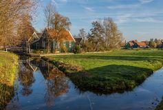 El pueblo maravilloso de Zaanse Schans, Netherland fotos de archivo libres de regalías