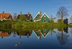 El pueblo maravilloso de Zaanse Schans, Netherland foto de archivo