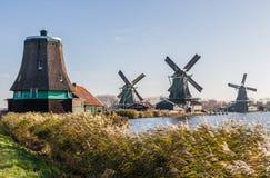 El pueblo maravilloso de Zaanse Schans, Netherland imagen de archivo