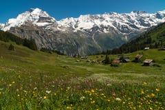 El pueblo Murren, Suiza Imágenes de archivo libres de regalías
