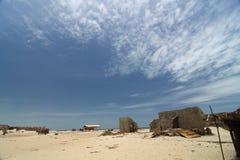 El pueblo permanece después de ciclón Fotografía de archivo