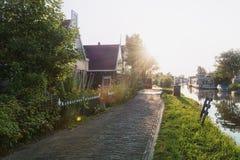 El pueblo pesquero anterior Haaldersbroek Imagenes de archivo