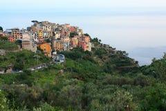 El pueblo pesquero de Cinque Terre Foto de archivo libre de regalías