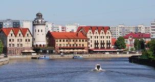 El pueblo pesquero de Kaliningrado almacen de video