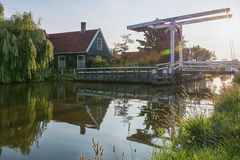 El pueblo pesquero viejo Haaldersbroek Fotografía de archivo libre de regalías