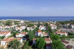El pueblo pintoresco de S'algar en España Imagenes de archivo