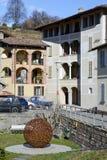 El pueblo rural de Carabbia, Suiza Foto de archivo libre de regalías
