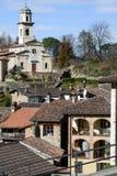 El pueblo rural de Carabbia, Suiza Fotos de archivo
