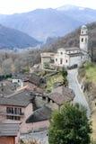 El pueblo rural de Carabbia, Suiza Imagenes de archivo