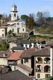 El pueblo rural de Carabbia, Suiza Fotos de archivo libres de regalías