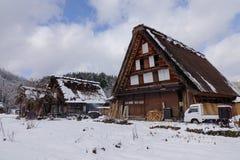 El pueblo viejo adentro Shirakawa-va, Japón Fotografía de archivo libre de regalías