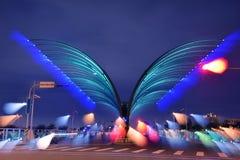El puente como una mariposa se prepara para volar hacia fuera Fotografía de archivo libre de regalías