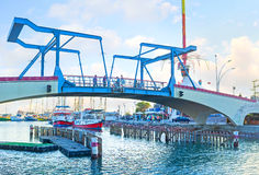 El puente conmemorativo en Eilat Fotografía de archivo