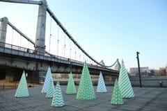 El puente crimeo moscú Año 2013 Imagen de archivo libre de regalías