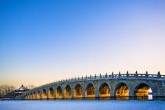 El puente de 17 arcos Imagen de archivo libre de regalías