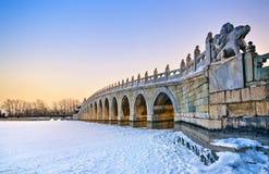 El puente de 17 arcos Imagenes de archivo