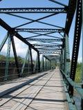 El puente de acero Foto de archivo libre de regalías