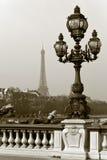 El puente de Alejandro III en París, Francia. Imagenes de archivo