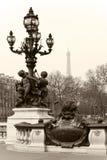 El puente de Alejandro III en París, Francia. Imagen de archivo