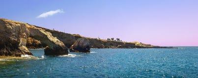 El puente de amantes en el cabo Greco Chipre, Agia NAPA Imagenes de archivo