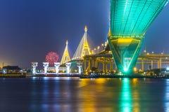 El puente de Bhumibol Fotografía de archivo