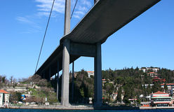 El puente de Bosphorus imagen de archivo libre de regalías