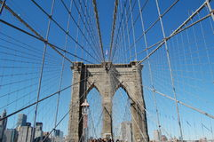 El puente de Brooklyn Fotografía de archivo
