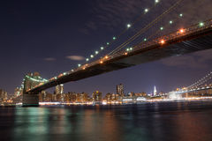 El puente de Brooklyn Fotografía de archivo libre de regalías