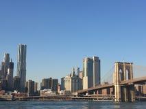 El puente de Brooklyn Imágenes de archivo libres de regalías