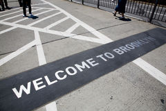 El puente de Brooklyn famoso Imagenes de archivo