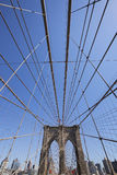El puente de Brooklyn, New York City Fotos de archivo libres de regalías