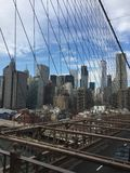 El puente de Brooklyn nuevo Imagenes de archivo