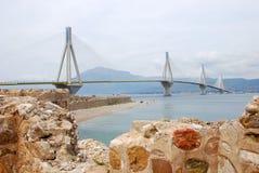 El puente de cable más grande Foto de archivo libre de regalías