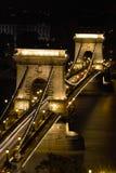 El puente de cadena en Budapest, Hungría Imágenes de archivo libres de regalías