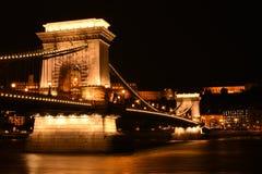 El puente de cadena de Szechenyi imagen de archivo