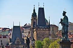 El puente de Charles, Praga, República Checa Imagenes de archivo