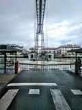 El puente de colgante de Vizcaya imagen de archivo