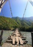El puente de cuerda Foto de archivo libre de regalías