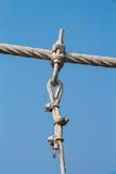 El puente de cuerda del metal del alambre imágenes de archivo libres de regalías