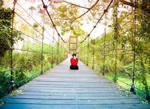 El puente de cuerda tailandia Fotos de archivo libres de regalías