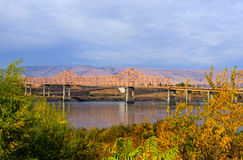 El puente de Dalles Foto de archivo