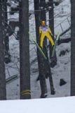 El puente de esquí Noriaki KASAI vuela Imágenes de archivo libres de regalías