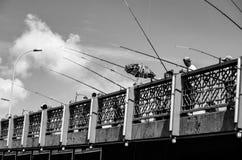 El puente de Galata Imágenes de archivo libres de regalías