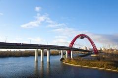 El puente de Givopisny en Moscú. Imagen de archivo libre de regalías