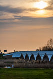 El puente de Hortobagy, Hungría, sitio del patrimonio mundial de la UNESCO Fotografía de archivo