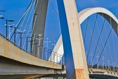 El puente de JK en Brasilia Imagen de archivo libre de regalías