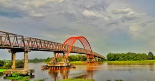 El puente de Kahayan foto de archivo libre de regalías