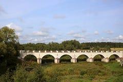 El puente de Konuvere fue construido en 1861 Estonia fotos de archivo libres de regalías