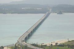 El puente de Kouri en OKINAWA Fotografía de archivo libre de regalías