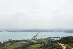 El puente de Kouri en OKINAWA Imágenes de archivo libres de regalías